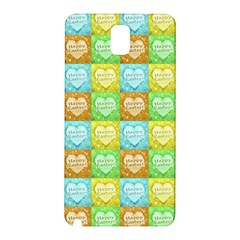 Colorful Happy Easter Theme Pattern Samsung Galaxy Note 3 N9005 Hardshell Back Case