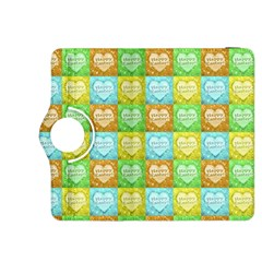 Colorful Happy Easter Theme Pattern Kindle Fire HDX 8.9  Flip 360 Case