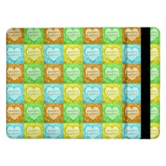 Colorful Happy Easter Theme Pattern Samsung Galaxy Tab Pro 12.2  Flip Case