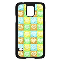 Colorful Happy Easter Theme Pattern Samsung Galaxy S5 Case (Black)
