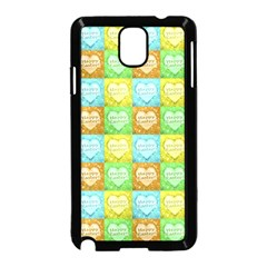 Colorful Happy Easter Theme Pattern Samsung Galaxy Note 3 Neo Hardshell Case (Black)