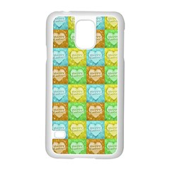 Colorful Happy Easter Theme Pattern Samsung Galaxy S5 Case (White)