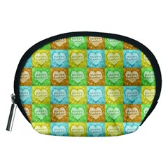 Colorful Happy Easter Theme Pattern Accessory Pouches (Medium)
