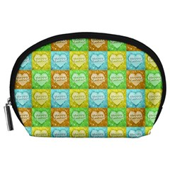 Colorful Happy Easter Theme Pattern Accessory Pouches (Large)
