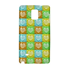 Colorful Happy Easter Theme Pattern Samsung Galaxy Note 4 Hardshell Case