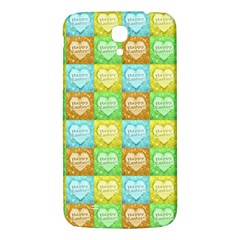 Colorful Happy Easter Theme Pattern Samsung Galaxy Mega I9200 Hardshell Back Case