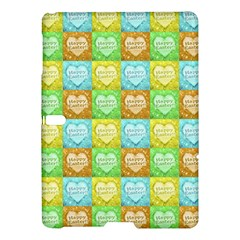 Colorful Happy Easter Theme Pattern Samsung Galaxy Tab S (10.5 ) Hardshell Case