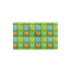 Colorful Happy Easter Theme Pattern Cosmetic Bag (XS)
