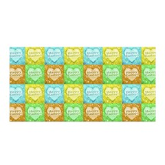 Colorful Happy Easter Theme Pattern Satin Wrap