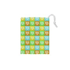 Colorful Happy Easter Theme Pattern Drawstring Pouches (XS)