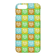 Colorful Happy Easter Theme Pattern Apple Iphone 7 Plus Hardshell Case