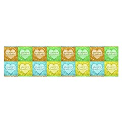 Colorful Happy Easter Theme Pattern Satin Scarf (Oblong)