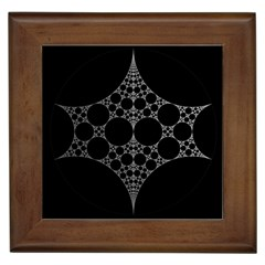 Drawing Of A White Spindle On Black Framed Tiles