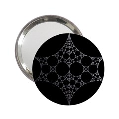 Drawing Of A White Spindle On Black 2 25  Handbag Mirrors