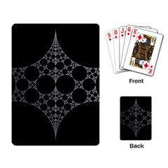 Drawing Of A White Spindle On Black Playing Card
