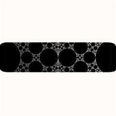 Drawing Of A White Spindle On Black Large Bar Mats