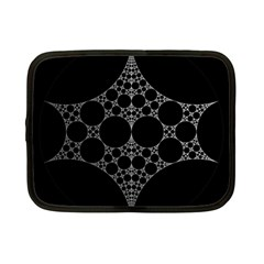 Drawing Of A White Spindle On Black Netbook Case (Small)