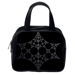Drawing Of A White Spindle On Black Classic Handbags (One Side)