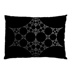 Drawing Of A White Spindle On Black Pillow Case