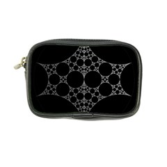 Drawing Of A White Spindle On Black Coin Purse