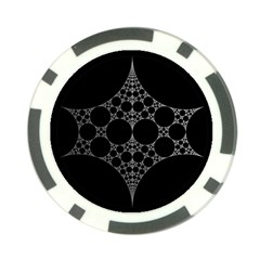 Drawing Of A White Spindle On Black Poker Chip Card Guard (10 pack)