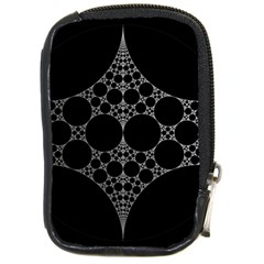 Drawing Of A White Spindle On Black Compact Camera Cases