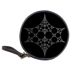 Drawing Of A White Spindle On Black Classic 20 Cd Wallets
