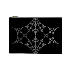Drawing Of A White Spindle On Black Cosmetic Bag (Large)