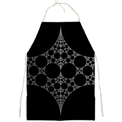 Drawing Of A White Spindle On Black Full Print Aprons