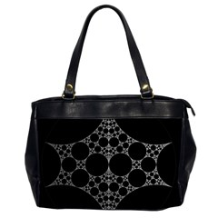 Drawing Of A White Spindle On Black Office Handbags (2 Sides)