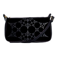 Drawing Of A White Spindle On Black Shoulder Clutch Bags
