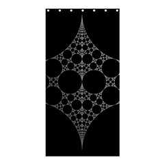 Drawing Of A White Spindle On Black Shower Curtain 36  x 72  (Stall)