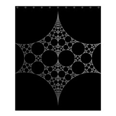 Drawing Of A White Spindle On Black Shower Curtain 60  X 72  (medium)