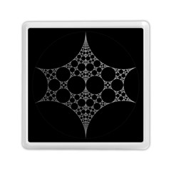 Drawing Of A White Spindle On Black Memory Card Reader (Square)