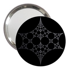 Drawing Of A White Spindle On Black 3  Handbag Mirrors