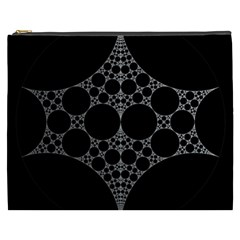 Drawing Of A White Spindle On Black Cosmetic Bag (XXXL)