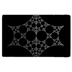 Drawing Of A White Spindle On Black Apple iPad 2 Flip Case