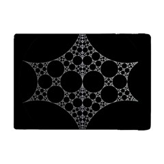 Drawing Of A White Spindle On Black Apple Ipad Mini Flip Case