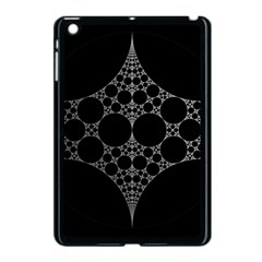 Drawing Of A White Spindle On Black Apple Ipad Mini Case (black)