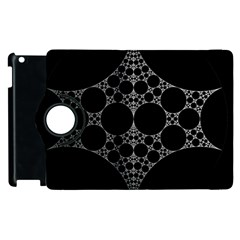 Drawing Of A White Spindle On Black Apple iPad 2 Flip 360 Case
