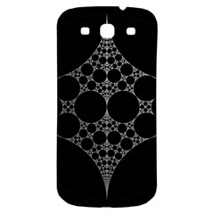 Drawing Of A White Spindle On Black Samsung Galaxy S3 S III Classic Hardshell Back Case