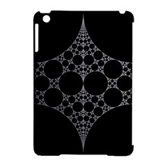 Drawing Of A White Spindle On Black Apple Ipad Mini Hardshell Case (compatible With Smart Cover)