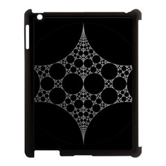 Drawing Of A White Spindle On Black Apple Ipad 3/4 Case (black)