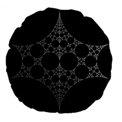 Drawing Of A White Spindle On Black Large 18  Premium Round Cushions