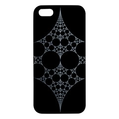 Drawing Of A White Spindle On Black Apple iPhone 5 Premium Hardshell Case