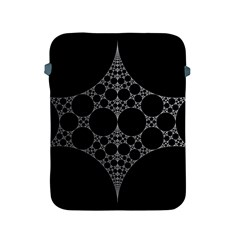 Drawing Of A White Spindle On Black Apple iPad 2/3/4 Protective Soft Cases