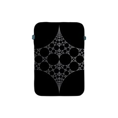 Drawing Of A White Spindle On Black Apple iPad Mini Protective Soft Cases