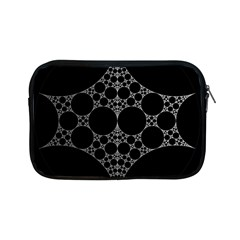 Drawing Of A White Spindle On Black Apple Ipad Mini Zipper Cases