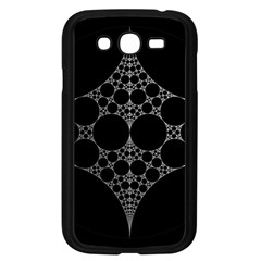 Drawing Of A White Spindle On Black Samsung Galaxy Grand Duos I9082 Case (black)