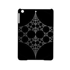 Drawing Of A White Spindle On Black iPad Mini 2 Hardshell Cases